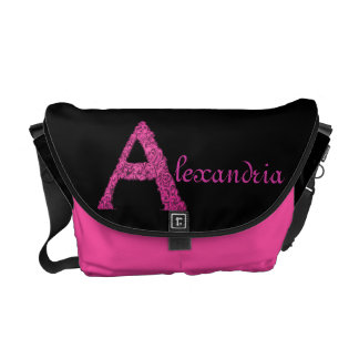A - El alfabeto de Falck (rosa) Bolsa De Mensajería