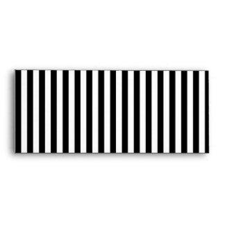 A Elegant Black and White Modern Stripes Envelopes