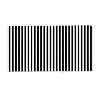 A Elegant Black and White Modern Stripes Label