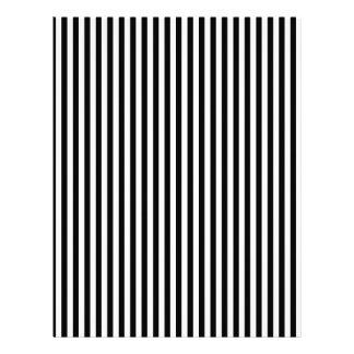 A Elegant Black and White Modern Stripes Letterhead