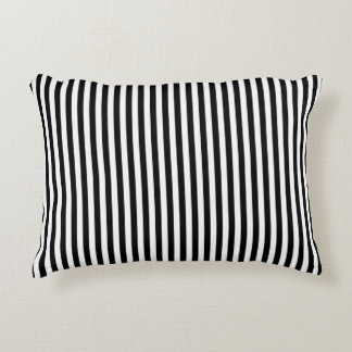 A Elegant Black and White Modern Stripes Accent Pillow