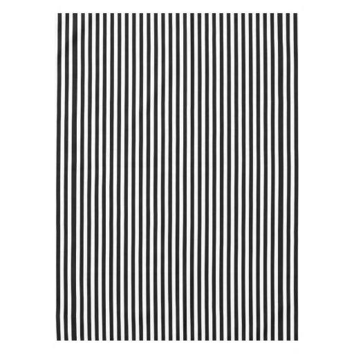 A Elegant Black And White Modern Stripes Tablecloth Zazzle