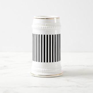 A Elegant Black and White Modern Stripes Coffee Mug