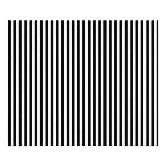 A Elegant Black and White Modern Stripes Photographic Print