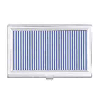 A Elegant Blue and White Nautical Stripes Case For Business Cards