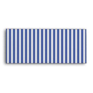 A Elegant Blue and White Nautical Stripes Envelope