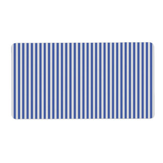 A Elegant Blue and White Nautical Stripes Label