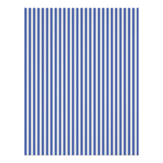 A Elegant Blue and White Nautical Stripes Letterhead