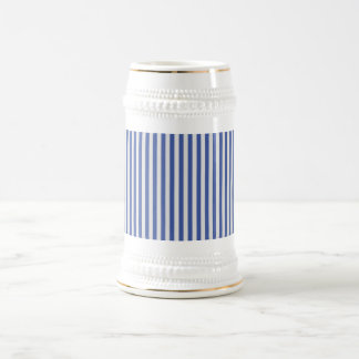 A Elegant Blue and White Nautical Stripes Coffee Mug