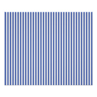 A Elegant Blue and White Nautical Stripes Photo Print