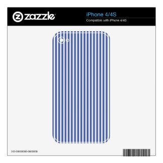 A Elegant Blue and White Nautical Stripes iPhone 4 Skin