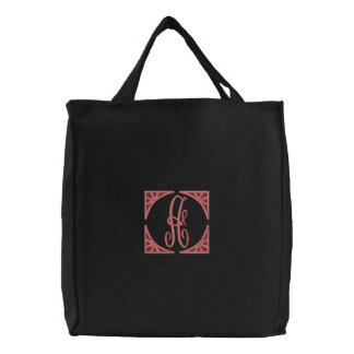 """""""A"""" Embroidered Tote Bag / by: Opal01"""