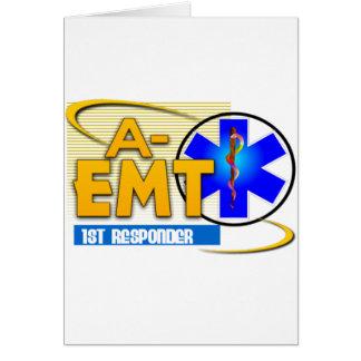 A-EMT 1ST RESPONDER - EMERGENCY MED TECH ADVANCED GREETING CARDS