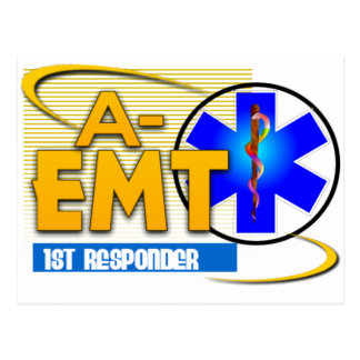 A-EMT 1ST RESPONDER - EMERGENCY MED TECH ADVANCED POSTCARD