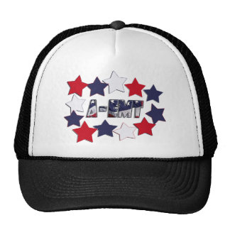 A-EMT STARS ADVANCED-EMERGENCY MEDICAL TECH TRUCKER HAT