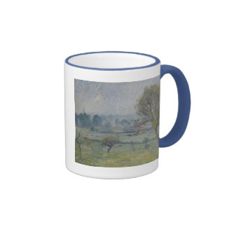 À Éragny de Brouillard de Camille Pissarro Taza A Dos Colores