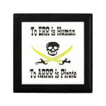 ¡A Errr es humano, a Arrrr es el pirata! Caja De Joyas