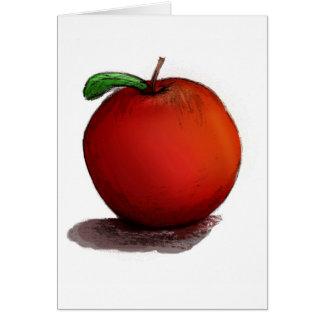 A está para Apple Tarjeta De Felicitación