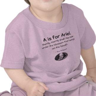 A está para Ariel • Una pequeña camisa de Shakespe