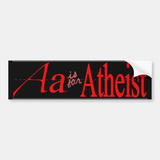 A está para el ateo etiqueta de parachoque