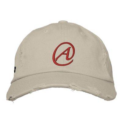 A está para el ateo gorra de béisbol bordada