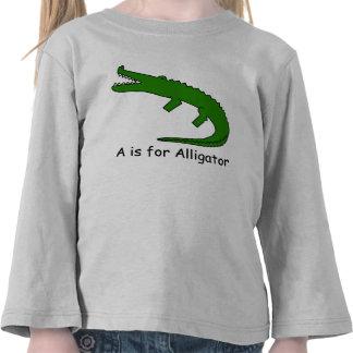 A está para el cocodrilo camisetas