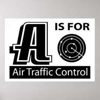 A está para el controlador aéreo poster