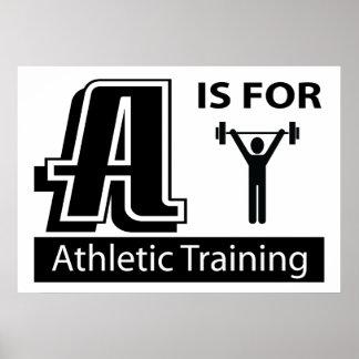 A está para el entrenamiento atlético poster