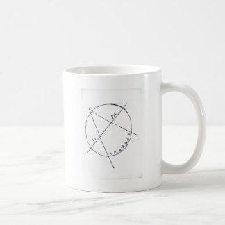 a está para la anarquía taza de café