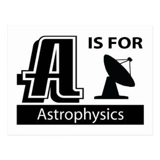 A está para la astrofísica postales