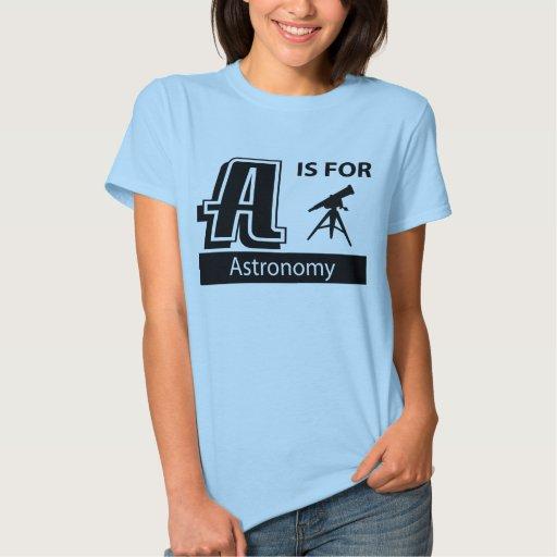 A está para la astronomía playeras