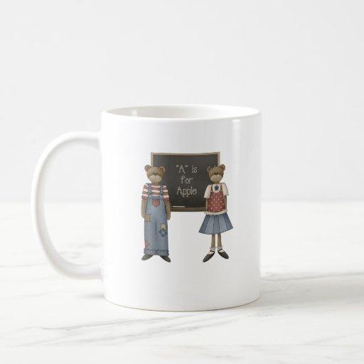 A está para la manzana taza de café