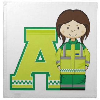 A está para la mujer de la ambulancia