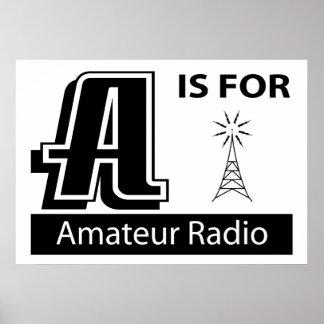 A está para la radio aficionada posters