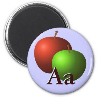 A está para las manzanas imán redondo 5 cm