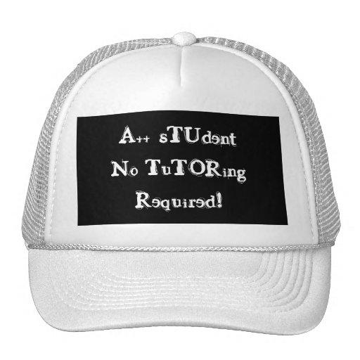 A++ Estudiante ningún gorra negro y blanco requeri
