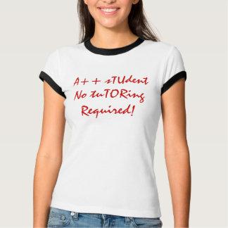 A++ Estudiante ningún rojo y blanco requeridos Playeras