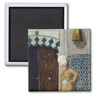 A eunuch before the door of the harem 2 inch square magnet