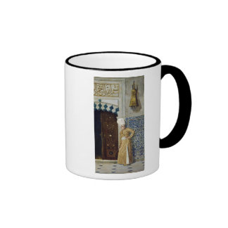 A eunuch before the door of the harem ringer coffee mug