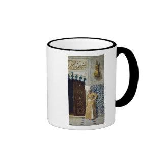 A eunuch before the door of the harem ringer mug