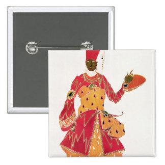 A Eunuch, from the ballet 'Scheherazade' Button