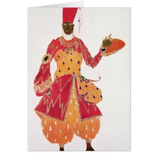 A Eunuch, from the ballet 'Scheherazade' Card