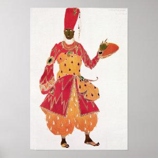 A Eunuch, from the ballet 'Scheherazade' Poster