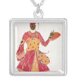 A Eunuch, from the ballet 'Scheherazade' Square Pendant Necklace