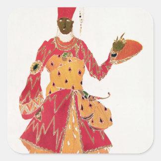 A Eunuch, from the ballet 'Scheherazade' Square Sticker