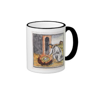 A European engaged in making a reliquary Ringer Mug