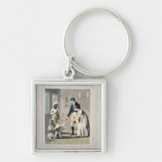 A European Lady and her Family, attended by an Aya Key Chain
