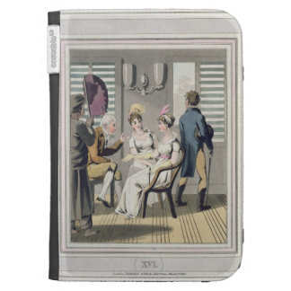 A European Lady, attended by a servant, using a ha Kindle Folio Case