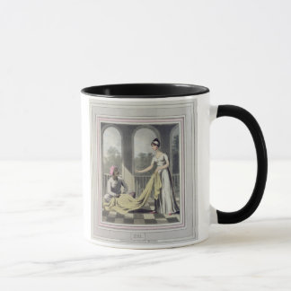 A European Lady giving instructions to her Durzee, Mug