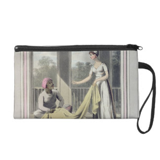 A European Lady giving instructions to her Durzee, Wristlet Purse